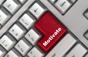 keyboard with -motivate- button